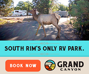 Trailer Village RV Park - After a day of adventure at the South Rim, you can relax and recharge in your RV at Trailer Village RV Park. Open year-round, full hookups, pull-through sites, showers, restrooms, coin-operated laundry, ice machine, pet friendly and the only RV Park inside the South Rim of the Grand Canyon!