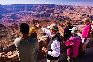 Grand Canyon Hiking Tours from O.A.R.S. : Expertly-guided 4-day/night hiking tours along the Park's most iconic routes and attractions. Nightly lodging, including the Phantom Ranch (in the Canyon). Amazing experience.
