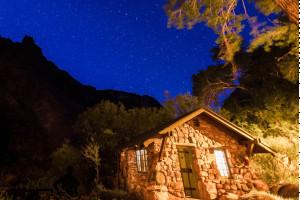 Stay at Phantom Ranch on our 4-day hiking trip