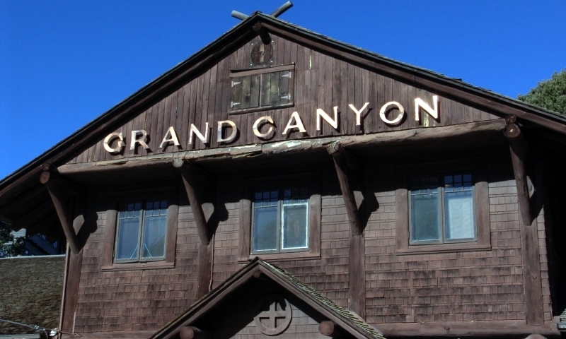Grand Canyon Railway Depot Monument