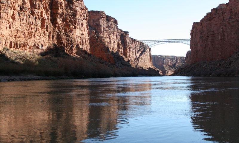 Looking to Navajo Bridge from Lees Ferry Crossing
