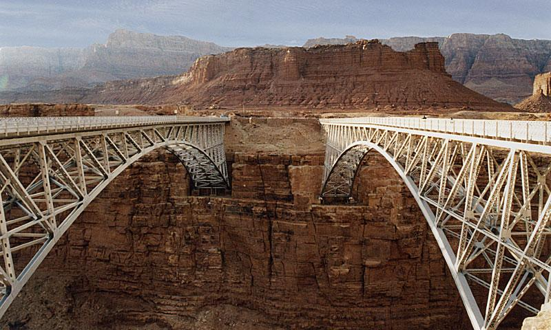 navajo bridge  colorado river in arizona