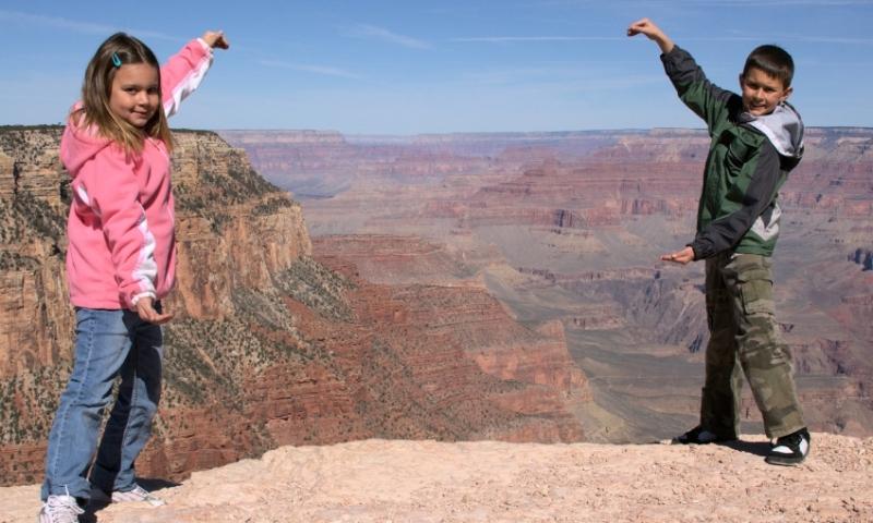 Kids at Grand Canyon National Park