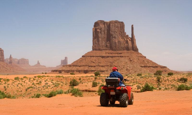 ATVing in Monument Valley