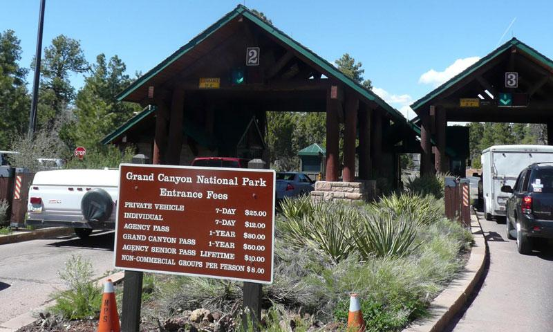 Park Fees and Entrance to Grand Canyon