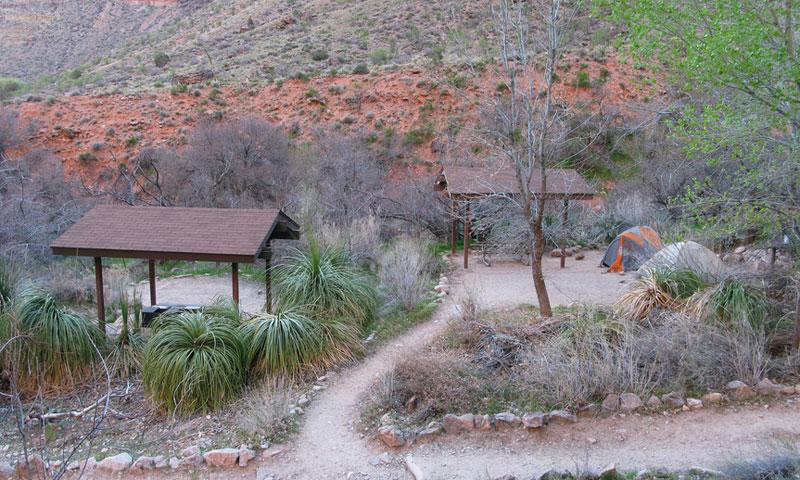Indian Garden Campground along the Bright Angel Trail
