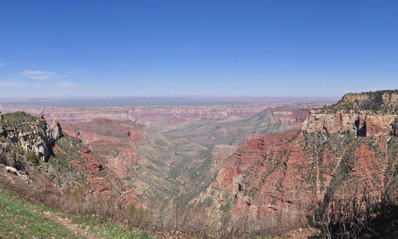 Roosevelt Point along the North Rim of the Grand Canyon