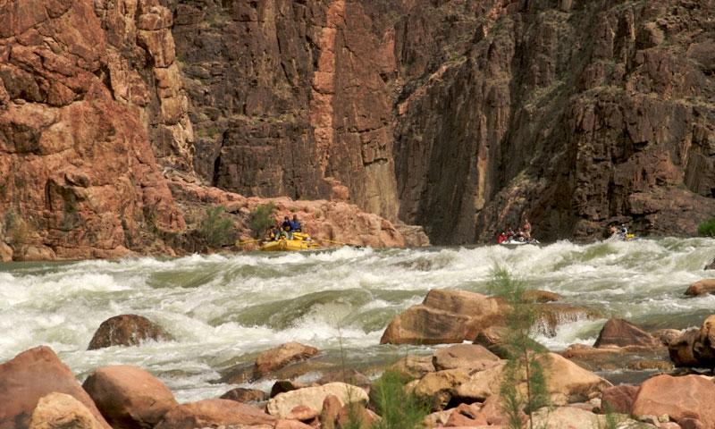 Rafting Granite Rapids along the Colorado River