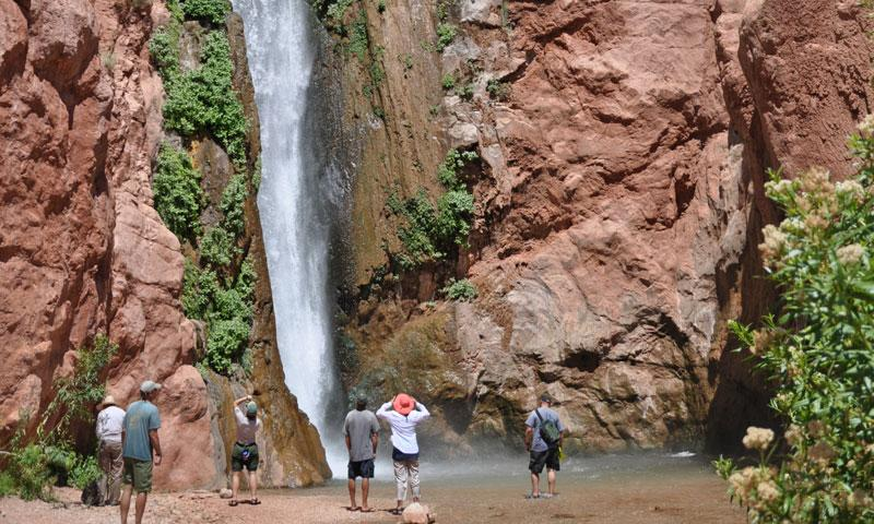 Hike to Deer Creek Falls from the Colorado River