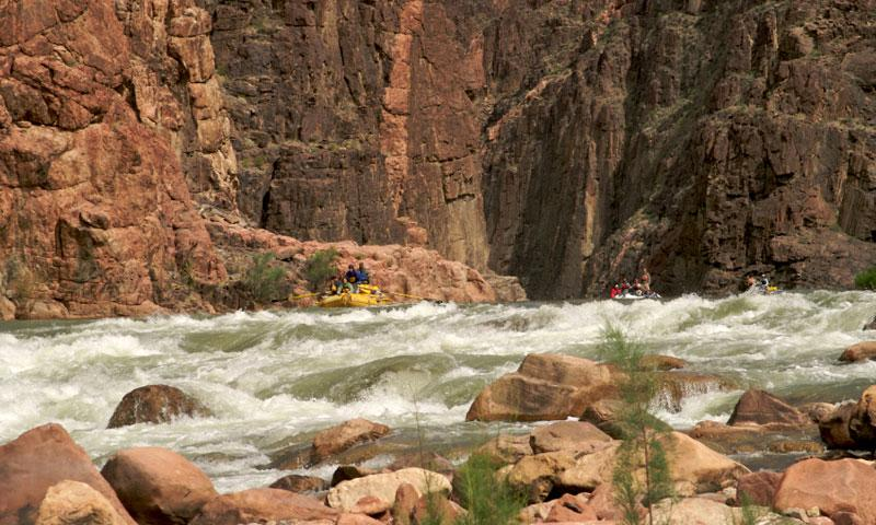 Rafting Granite Rapids along the Colorado River