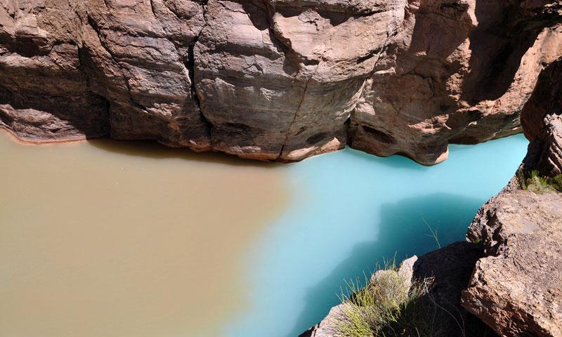 Havasu Creek meets the Colorado River in the Grand Canyon