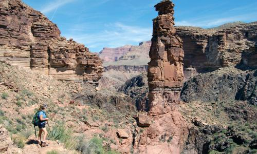 Tonto Trail in the Grand Canyon