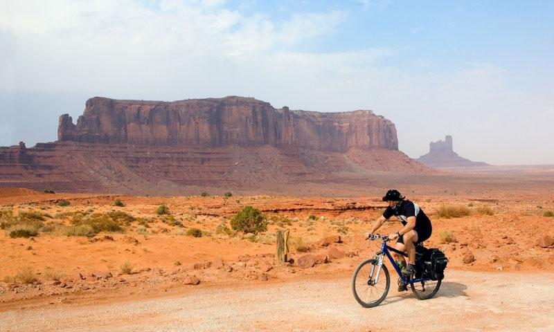 Biking Monument Valley