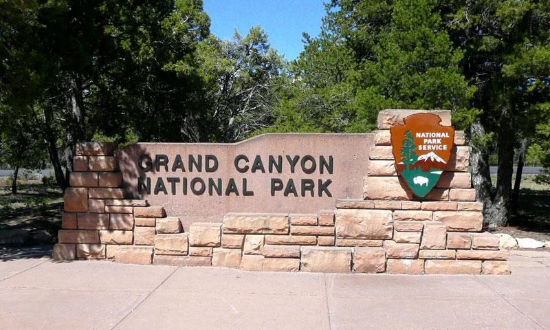 Sign for Grand Canyon National Park