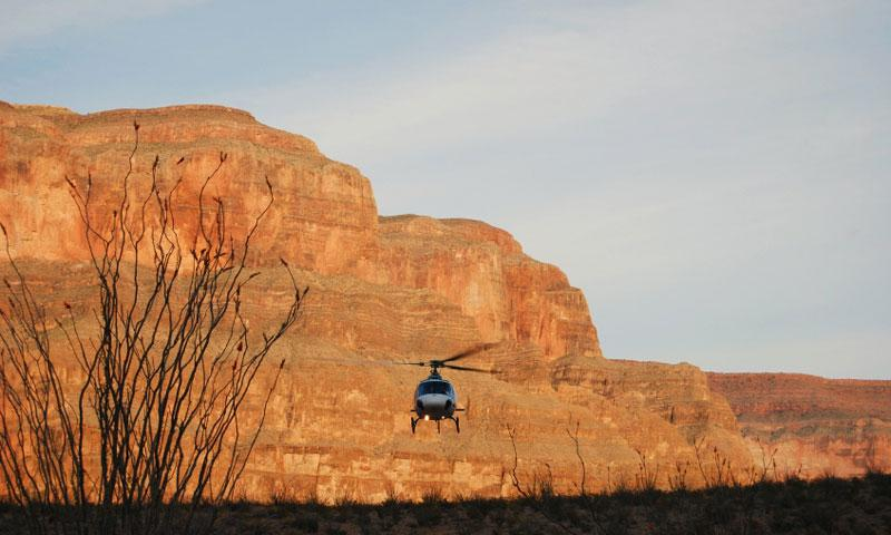 Helicopter in Grand Canyon National Park